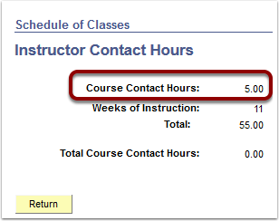 Instructor Contact Hours