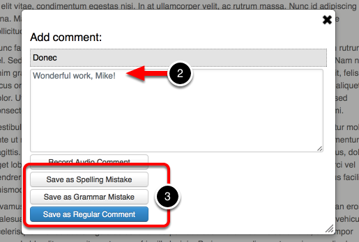 Step 3: Add and Define Comment