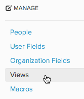 Click Views under Manage