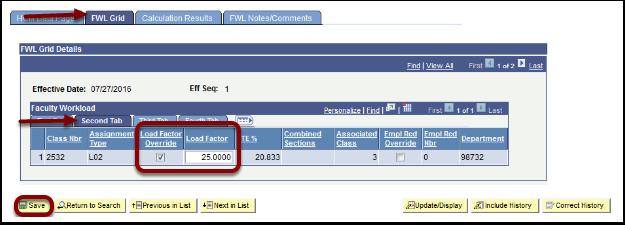 FWL Grid tab