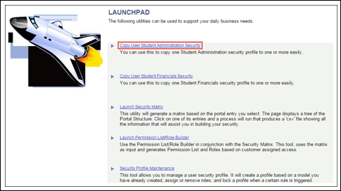 Launchpad page