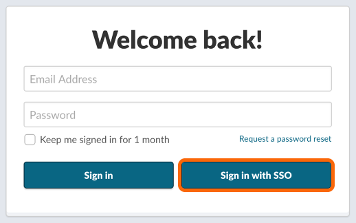 Login Page with SAML SSO