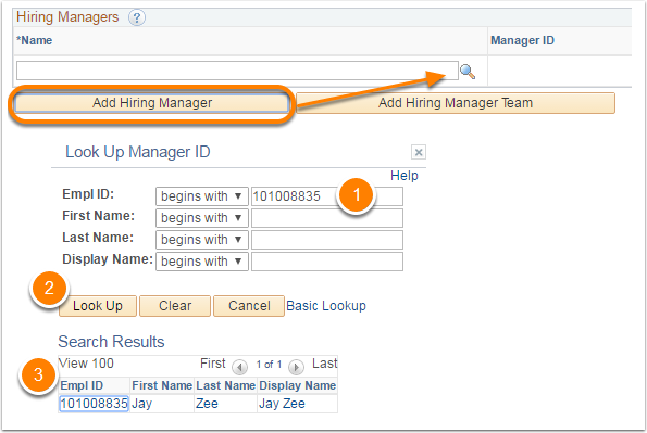 Add Hiring Manager