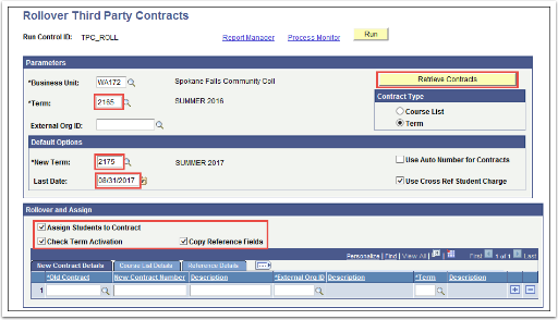 Rollover Third Party Contracts