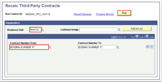 Recalc Third Party Contracts