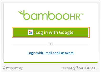 Log In Page Example