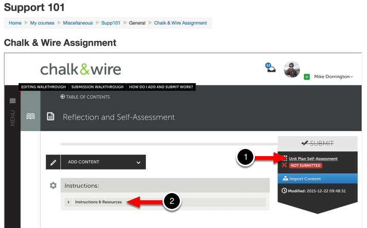 Step 3: Review Chalk & Wire Assignment