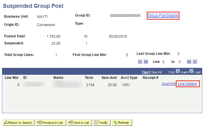 Suspended Group Post