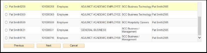 Employee list