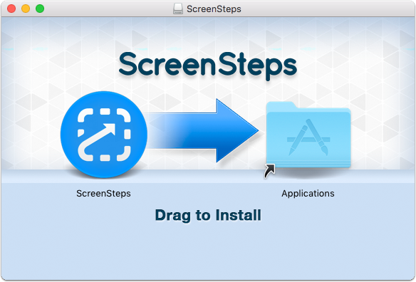 Drag ScreenSteps Application into Applications Folder