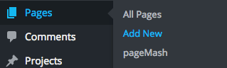WordPress: Add New Page