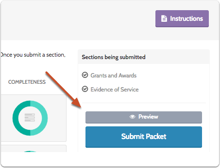 Review and Submit Packet