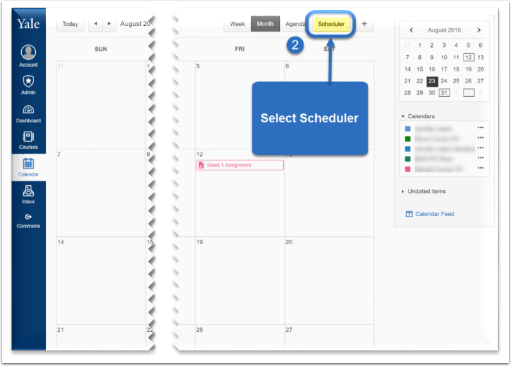 Select Scheduler.