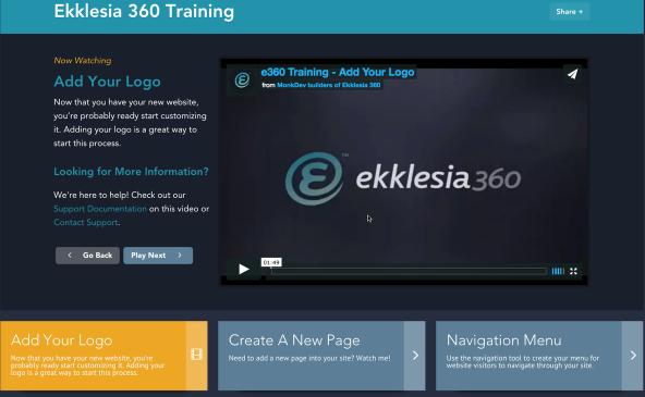 Ekklesia 360 Training Videos