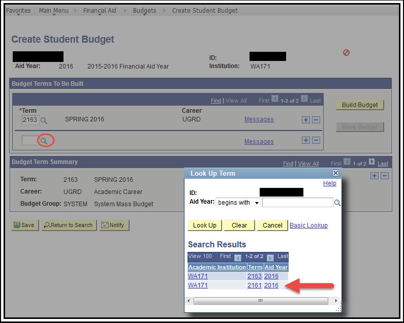 Create Student Budget