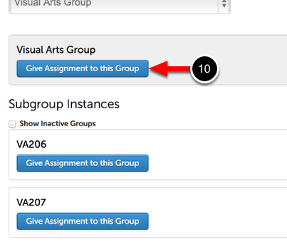 Step 3: Give New Assignment to Group or Subgroup