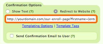 Redirect to Website URL
