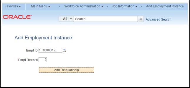 Add Employment Instance