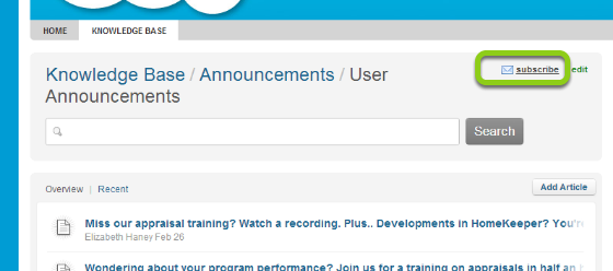1. Subscribe to the User Announcements Forum