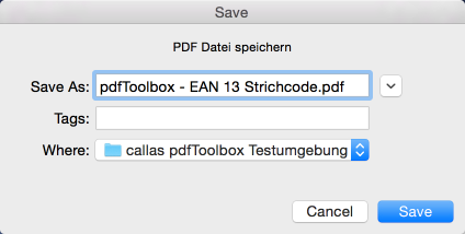 Geändertes PDF speichern