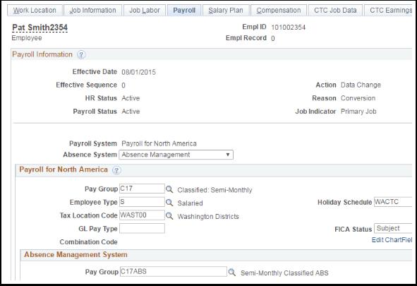 Payroll Information
