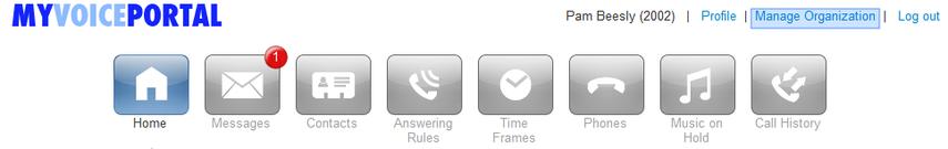 Click on Manage Organization