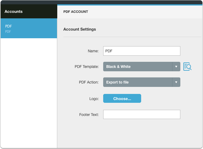 Configure the sharing account
