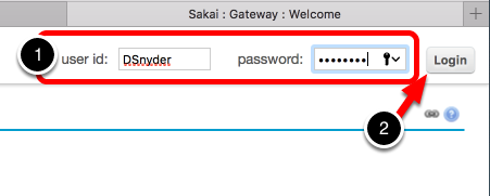 Step 1: Log In to Sakai