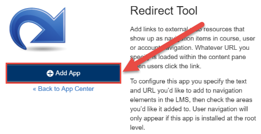 Add Redirect Tool