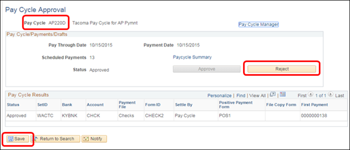 Pay Cycle Approval