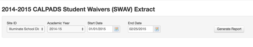 SWAV Requirements