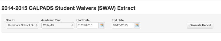 SWAV Requirements
