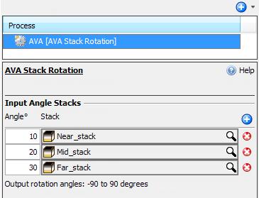 Select more than two input angle stacks