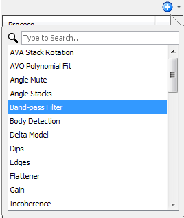Create band-pass filter process