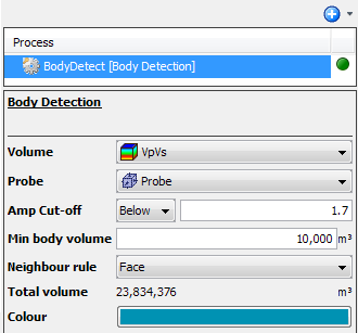 Define body detection settings