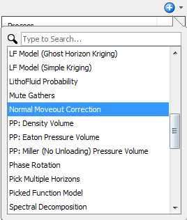 Create an NMO correction process