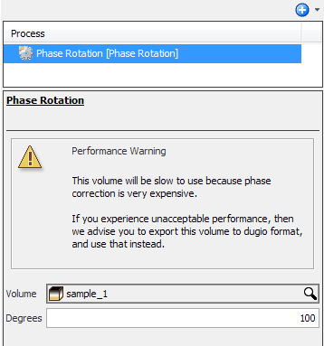 Define settings for phase rotation