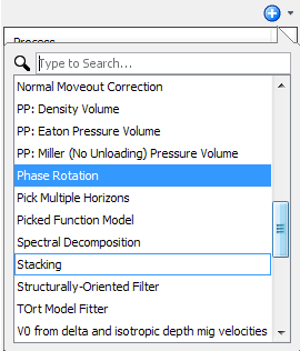 Create a phase rotation process