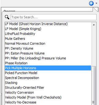 Create pick multiple horizons process