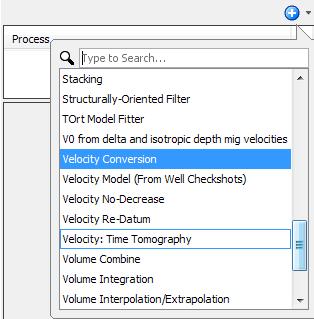 Create velocity conversion process