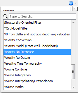 Create a velocity no-decrease process