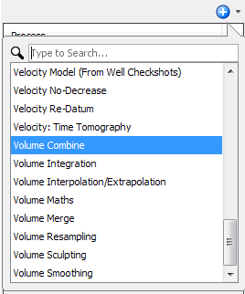 Create a volume combine process