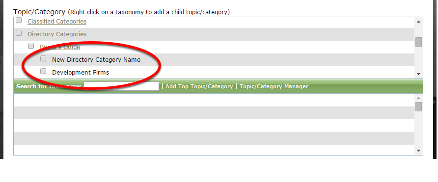 Now select which directory in which you'd like your listing to appear.