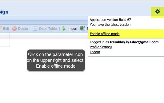 Enabling offline data entry mode