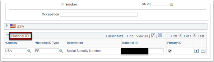 National ID section