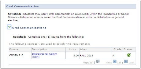 Oral Communication page