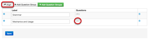 Link Questions to Groups