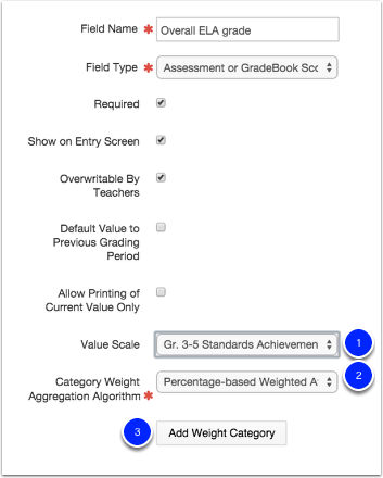 Assessment or Gradebook Score