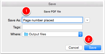 Save the output PDF file