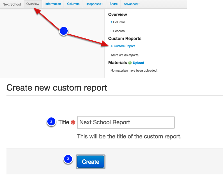 Next, create a Custom Report within the Demographic: